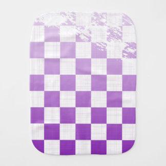Paño Para Bebés Grunge púrpura a cuadros