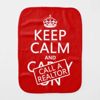 Paño Para Bebés Guarde la calma y llame un agente inmobiliario