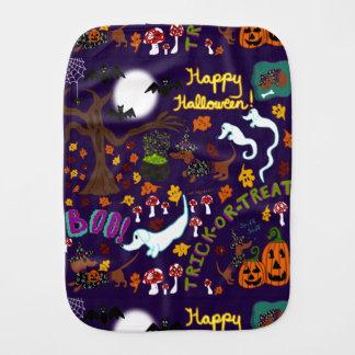 Paño Para Bebés Halloween del Dachshund de la diva
