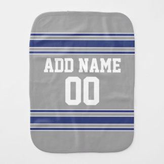 Paño Para Bebés Jersey de equipo con nombre y número de encargo