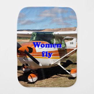 Paño Para Bebés Las mujeres vuelan: aviones de ala alta