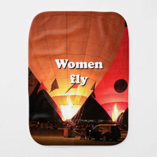 Paño Para Bebés Las mujeres vuelan: globo 2 del aire caliente