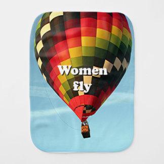 Paño Para Bebés Las mujeres vuelan: globo del aire caliente