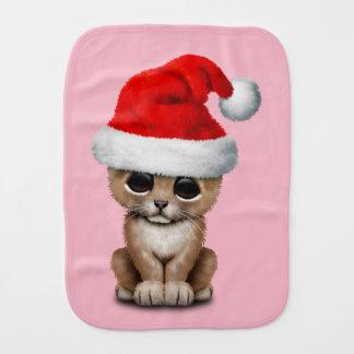Paño Para Bebés León Cub lindo que lleva un gorra de Santa