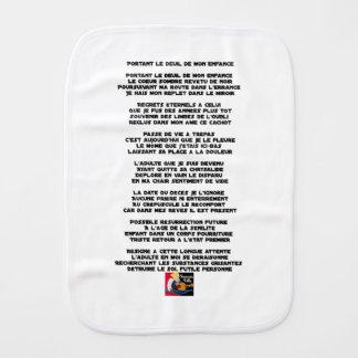Paño Para Bebés Llevando el Luto de mi Infancia - Poema