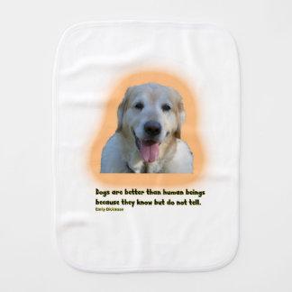 Paño Para Bebés Los perros son mejores que seres humanos