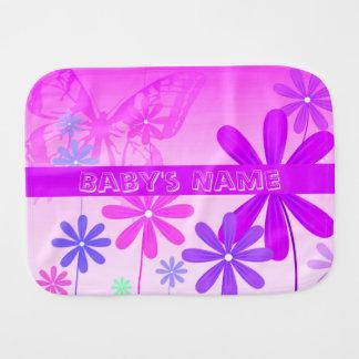 Paño Para Bebés Mariposas 2 de la flor del duendecillo