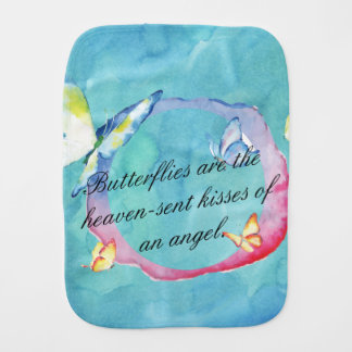 Paño Para Bebés Mariposas de la acuarela