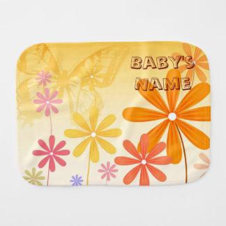 Paño Para Bebés Mariposas de la flor del duendecillo