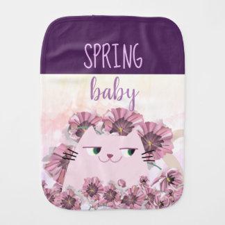 Paño Para Bebés Moda púrpura floral de Boho de la floración del