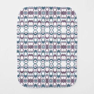 Paño Para Bebés Modelo abstracto púrpura y azul del diseño de la