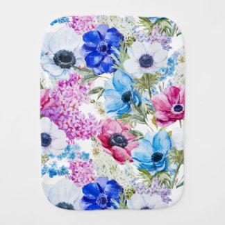 Paño Para Bebés Modelo de flores púrpura azul de medianoche de la