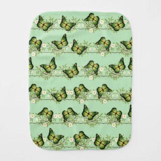 Paño Para Bebés Modelo de mariposas verde
