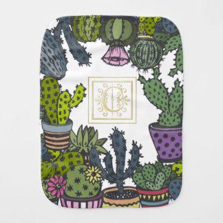 Paño Para Bebés Monograma C del cactus