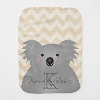 Paño Para Bebés Monograma mimoso lindo del oso de koala del bebé