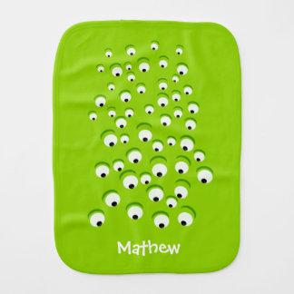 Paño Para Bebés Monstruo de ojos verdes loco y curioso divertido