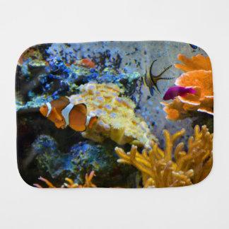 Paño Para Bebés océano del coral de los pescados del filón