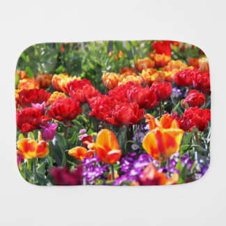 Paño Para Bebés Ondas florales del carmesí de Falln
