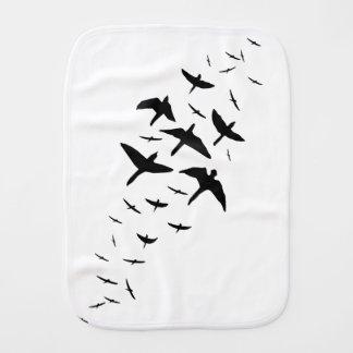Paño Para Bebés Pájaros negros