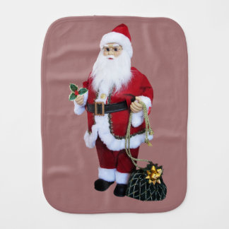 Paño Para Bebés Papá Noel con el bolso