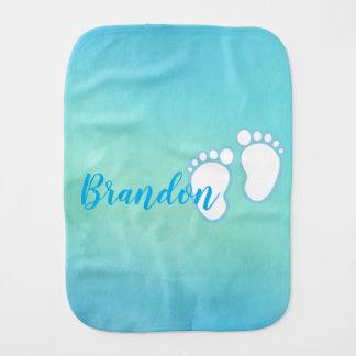 Paño Para Bebés Pequeño nombre de los pies del bebé de la huella