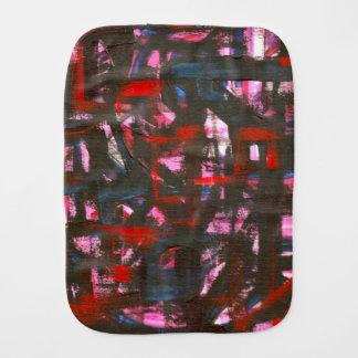 Paño Para Bebés Pinceladas abstractas pintadas Puesta del sol-Mano