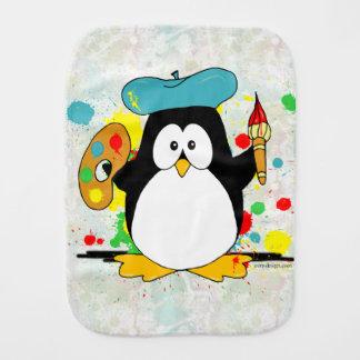 Paño Para Bebés Pingüino artístico