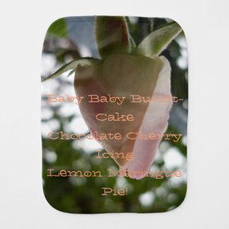 Paño Para Bebés poema del capullo de rosa del bebé del amor y de