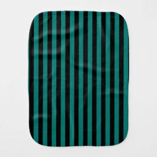 Paño Para Bebés Rayas finas - negro y verde del pino
