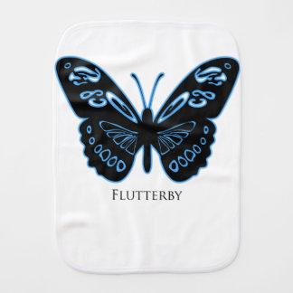 Paño Para Bebés Resplandor azul negro de Flutterby