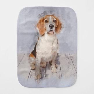 Paño Para Bebés Retrato lindo de la acuarela del beagle