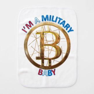 Paño Para Bebés Ropa militar del bebé de Bitcoin