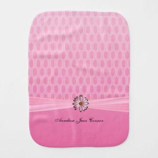 Paño Para Bebés Rosas bebés geométricos con la margarita rosada