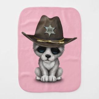 Paño Para Bebés Sheriff lindo del lobo del bebé