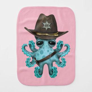 Paño Para Bebés Sheriff lindo del pulpo del bebé azul