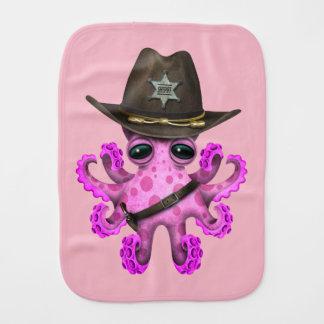 Paño Para Bebés Sheriff rosado lindo del pulpo del bebé