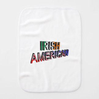 Paño Para Bebés Texto Irlandés-Americano para el Burp-Paño