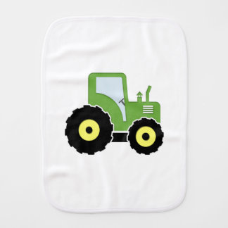Paño Para Bebés Tractor verde del juguete