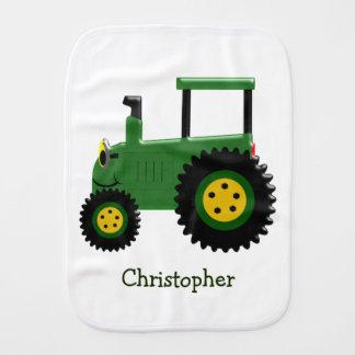 Paño Para Bebés Tractor verde personalizado