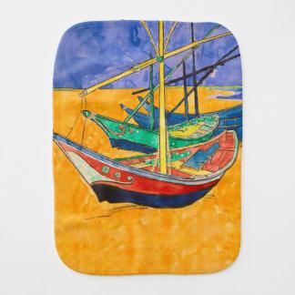 Paño Para Bebés Van Gogh que pinta los barcos famosos