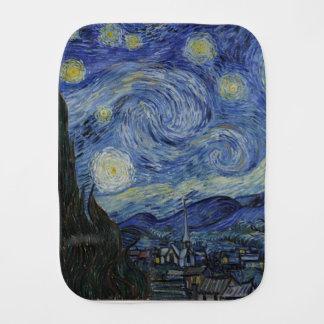 Paño Para Bebés Vincent van Gogh - noche estrellada. Pintura del