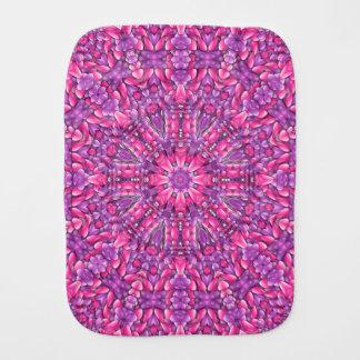 Paño púrpura rosado del Burp del caleidoscopio de Paños Para Bebé