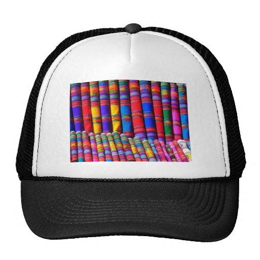 Paño tejido coloreado gorra