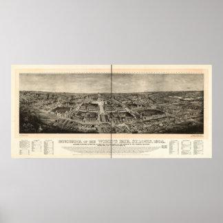 Panorama 1904 de la antigüedad de la expo de la fe posters