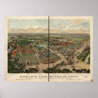 Panorama 1904 de la antigüedad de la expo de la fe poster