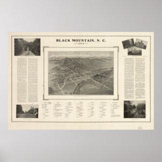 Panorama antiguo de la montaña N. Carolina 1912 ne Poster