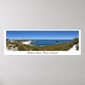 Panorama de la isla de Rottenest, Australia Poster