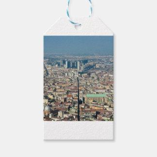 Panorama de Nápoles Etiquetas Para Regalos