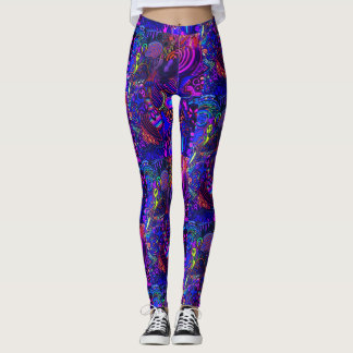 Pantalones del extranjero de espacio del arco iris