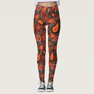 Pantalones elegantes anaranjados rojos de la yoga